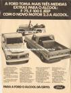 Propaganda Willys Overland Pick-Up Jeep / Ford F-75 Álcool 1980